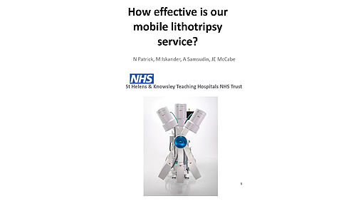 How effective is our mobile lithotripsy service?