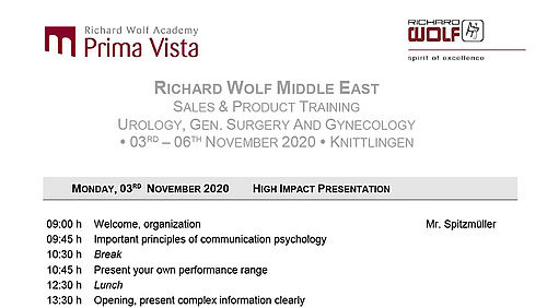 Agenda Product & Sales Level II November 20